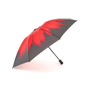 EVERYDAY REVERSE FOLDING UMBRELLA RED DAISY