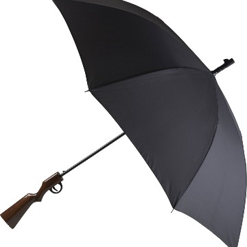 Umbrella with rifle handle
