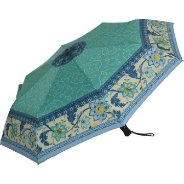 Exklusive blue flowers folding umbrella