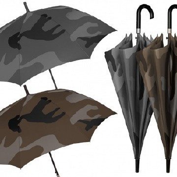 Gent. golf umbrella, camouflage design, forest