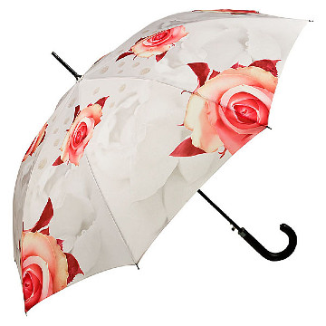 Automatic umbrella, roses ,creme