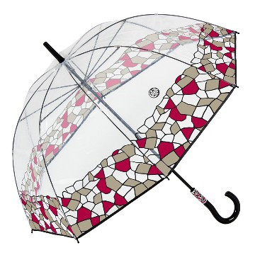 Gaudi transparent umbrella, red