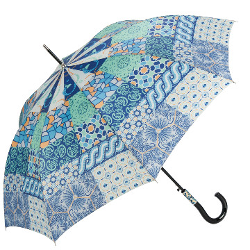Patchwork umbrella, Gaudi, blue