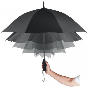 Practical mini umbrella with electrical opening and closing system