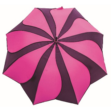 Swirl umbrella, pink-purple