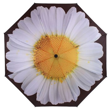 EVERYDAY REVERSE FOLDING UMBRELLA WHITE DAISY