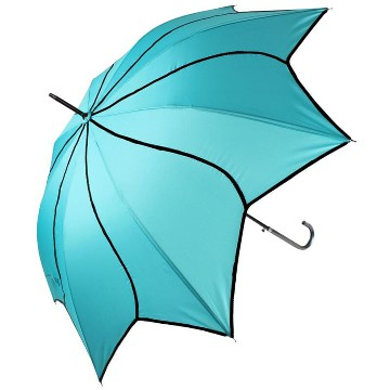 Teal swirl umbrella
