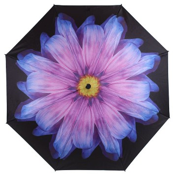 EVERYDAY REVERSE FOLDING UMBRELLA PURPLE DAISY