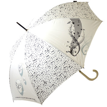 Love Music white design umbrella