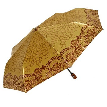 Modern-vintage folding umbrella, gold