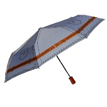 Jeans style folding umbrella, grey