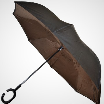 Reverse folding umbrella, bronz