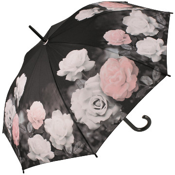 Vintage Roses walking stick style umbrella from the Galleria Collection