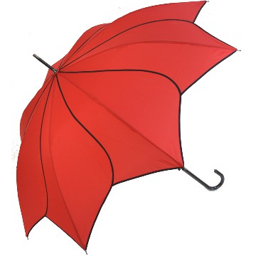 Red swirl umbrella