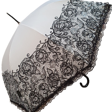 Lace vintage umbrella white