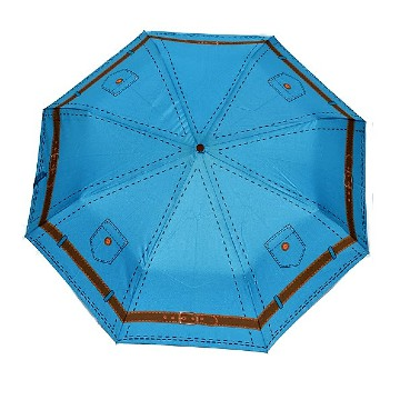 Jeans style folding umbrella, blue