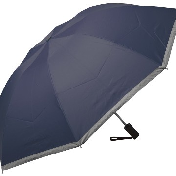 Automat. reflective umbrella, blue