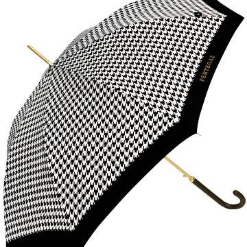 Extra umbrella, pepita, black