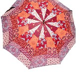 Patchwork umbrella, Gaudi, red